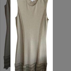 Tan yes Saint Laurent knit cocktail dress